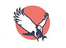 Zeichen, zweifarbig, Signet, Symbol, Logo, Adler