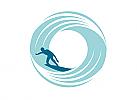 Surf Logo, Tube, Wasser, Welle, Sport, Surfing