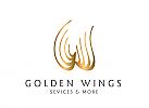 XYK, Zeichen, Signet, Flügel, Initial W, Service, Dienstleistung
