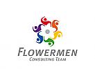 XYK, Zeichen, Signet, Menschen, Gruppe, Blume, Consulting, Coaching, Dienstleistung