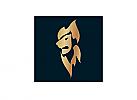 Zeichen, zweifarbig, Signet, Symbol, Löwe, Flamme, Logo