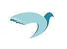 Zeichen, Zeichnung, zweifarbig, Signet, Symbol, Vogel, Welle, Wasser, Logo
