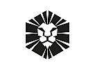 Zeichen, Zeichnung, Signet, Symbol, Löwe, Maske, Logo