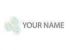 Öko, Daten, Viele Sechsecke, Netzwerk, Logo