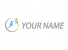 Zwei Personen, Paar, Menschen, abstrakt, Logo