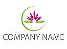 Zweifarbig, Zeichen, Zeichnung, Blume, Pflanze und Kreis, Logo