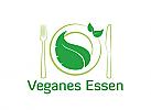 XYK, Teller, Besteck, Blätter, Veganes Restaurant, vegan essen, Salatbar