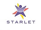 Zeichen, Signet, Symbol, Mensch, Kind, Stern, Starlet, Logo