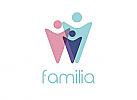 Zeichen, zweifarbig, Signet, Symbol, Menschen, Gruppe, Familie, Logo