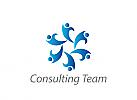 Zeichen, Menschen im Kreis, Consulting, Coaching, Dienstleistung