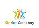 Zeichen, Symbol, drei Kinder, Schule, Internat, Kindergarten
