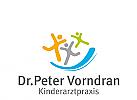 Zeichen, Symbol, drei Kinder, Kinderarzt