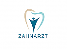 Zahnarzt-Logo, zweifarbig, Zahn, Mensch, Logo