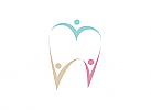 Zahnarzt, Zahnarztpraxis, Zahn, Menschen, Familie, Logo