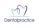Zahnarzt, Zahnarztpraxis, Zeichen, Zähne, Logo, modern, clean, elegant