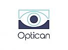 Zeichen, zweifarbig, Signet, Symbol, Auge, Mensch, Optiker, Augenarzt, Security, Logo