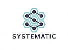 Zeichen, zweifarbig, Signet, Symbol, Schlosser, System, Technik, IT, Logo