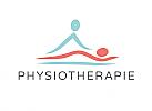 Zeichen, zweifarbig, Signet, Symbol, Physiotherapie, Massage, Logo