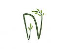 Ökologie, Zeichen, zweifarbig, Zahnärzte, Zahnpflege, Zahnmedizin, Zahnarzt, Zahn, Buchstabe N, Logo