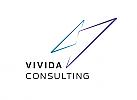 Zeichen, zweifarbig, Vektor Logo,