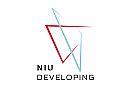 Zeichen, zweifarbig, Triangel, Vektor Logo, abstrakt