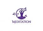 Ö, Yoga, Meditation, Blatt, Kreis, Wellness, Spa, Kosmetik, Ästhetische Verfahren, Ergänzungsladen Logo