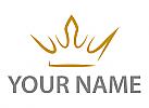 Zeichen, Zeichnung, Symbol, Krone, Krone gezeichnet in Gold, Logo