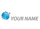 Kreis mit Wellen und Vier Kugel, Logo