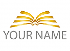 Ökologisch, Zwei Flügel in Gold, Wappen Logo