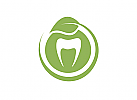 Ökologie, Zeichen, Zahn, Blatt, Logo