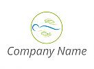 Ökologie, Zwei Hände und Person, Wirbelsäule, Orthopädie Logo