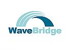 Zeichen, zweifarbig, Signet, Symbol, Welle, Brücke, Bogen, Logo