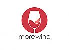 ö, Zeichen, zweifarbig, Signet, Symbol, Wein, Glas, Bar, Botega, Logo