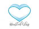 XYK, Zeichen, Symbol, Herz aus Glas, Glasherz