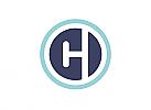 Zeichen, zweifarbig, Signet, Symbol, C, H, Logo
