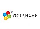 Ökologisch, Vier Kugel zusammen, Kreise, Logo