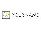 Ökologisch, Rechteck, Chip, Kontakte, Logo