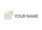 Ökologisch, Chip, Platine, Verbindungen, Pixel, Logo