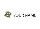 Ökologisch, Chip, Platine, Verbindungen, Logo