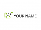 Ökologisch, Viele Rechtecke, Pixel, Logo