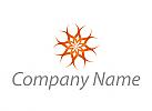 Ökologisch, Heilpraktiker, Blume, Feuer, Pflanze, Logo