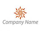 Ökologisch, Spirale, Sonne, Logo