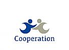 Zeichen, Symbol, zwei Menschen, Cooperation, Coaching, Consulring