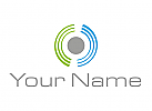 Ökologisch, Wellen, Viele Kreise, Halbkreise, Logo