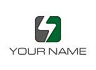 Zweifarbig, Strom, Rechteck, Elektriker, Logo