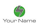 Zeichen, Zweifarbig, Blitz, Strom, Kreis, Elektriker, Logo