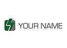 Zweifarben Logo, Blitz, Strom, Rechteck, Elektriker, Logo