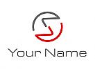 Ökologisch, Zwei Halbkreise, Kreis aus Linien Logo