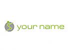 Zweifarbig, Person in Bewegung, Fitness, Sport, Logo