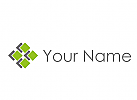 Ökologisch, Viele Rechtecke, Pixel Logo